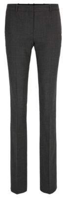 BOSS Hugo Pinstriped Wool Blend Pant Titana 4 Patterned