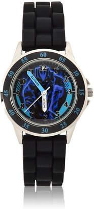Marvel Time Teacher Black Panther Unisex Adult Black Strap Watch-Bpm9010jc