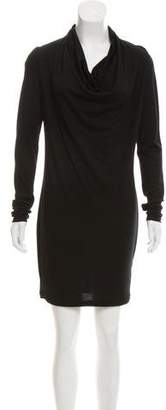 Helmut Lang Long Sleeve Wool Dress