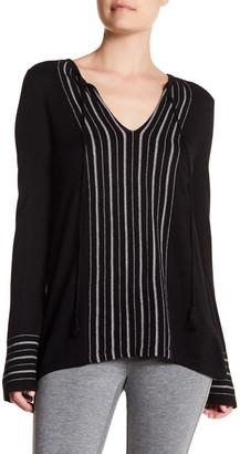 Cullen Fairisle Stripe Silk Blend Pullover $180 thestylecure.com