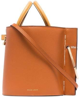 Lente Danse Brown Bobbi leather bucket bag
