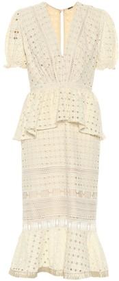 Johanna Ortiz Lovers Bridgelush cotton midi dress