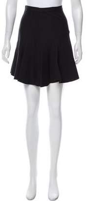 Halston Pleat Mini Skirt