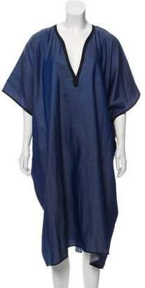 6397 Chambray Dolman Dress