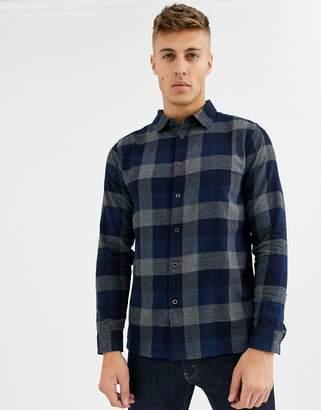 NATIVE YOUTH brushed check shirt