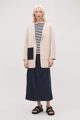 Cos LONG STRUCTURED KNIT JACKET