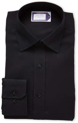 Lorenzo Uomo Black Stretch Regular Fit Dress Shirt
