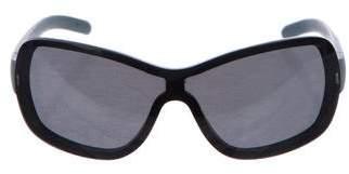 Porsche Design Rectangular Tinted Shield Sunglasses