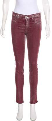 J Brand Coated Mid-Rise Skinny Jeans w/ Tags