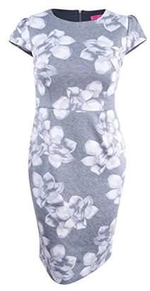 Betsey Johnson Women's Printed Knit Midi Sheath Dress