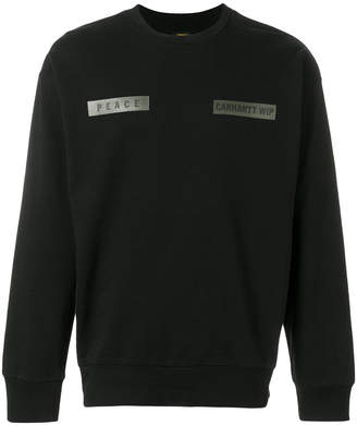 Carhartt logo patch sweatshirt