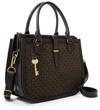 Fossil Ryder Satchel Handbag Black/Brown