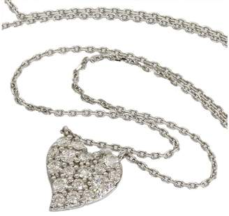 Star Jewelry 18K White Gold with 0.20ct Diamond Heart Necklace