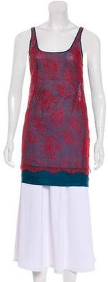 Stella McCartney Lace-Accented Silk Tunic