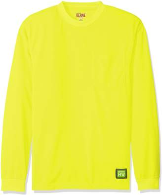 Berne Men's Enhanced-Visibility Long Sleeve Pocket Tee Shirt