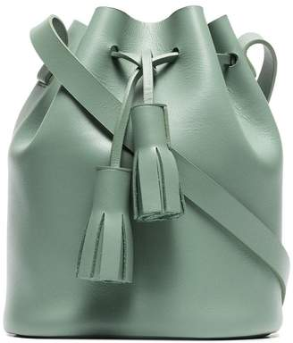 Building Block green bucket mini leather shoulder bag