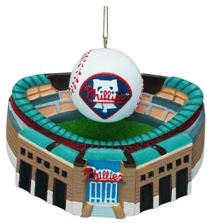 Kurt Adler Philadelphia Phillies Citizens Bank Park w/ Baseball Ornament 3-3/4""