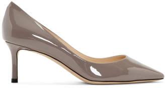 Jimmy Choo Grey Patent Romy 60 Heels