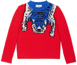 Children's merino sweater with tiger $395 thestylecure.com