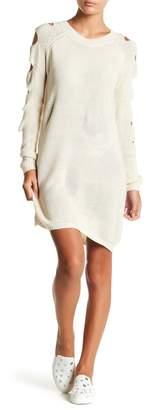 Solutions Ladder Sleeve Sweater Dress