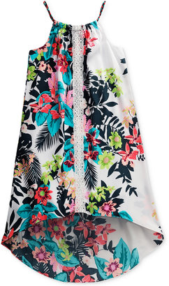 Sweet Heart Rose Tropical-Print High-Low Swing Dress, Big Girls (7-16) $56 thestylecure.com