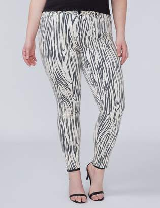 Lane Bryant Super Stretch Skinny Jean with Power Pockets - Zebra Print