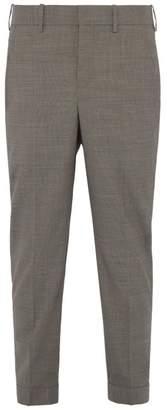 Neil Barrett Houndstooth Cotton Blend Trousers - Mens - Brown