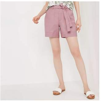 Joe Fresh Women's Tie Waist Canvas Short, Mauve (Size 12)
