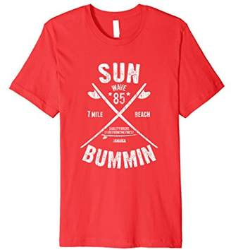 Sun Bummin Surfboard T-Shirt - 7 Mile Beach Jamaica