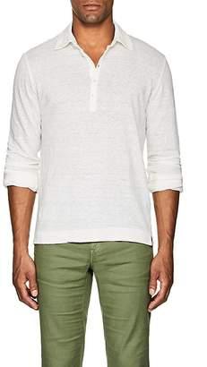 Massimo Alba Men's Linen Slub-Jersey Polo Shirt