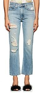 Brock Collection Women's Wright Distressed Straight Jeans-Lt. Blue