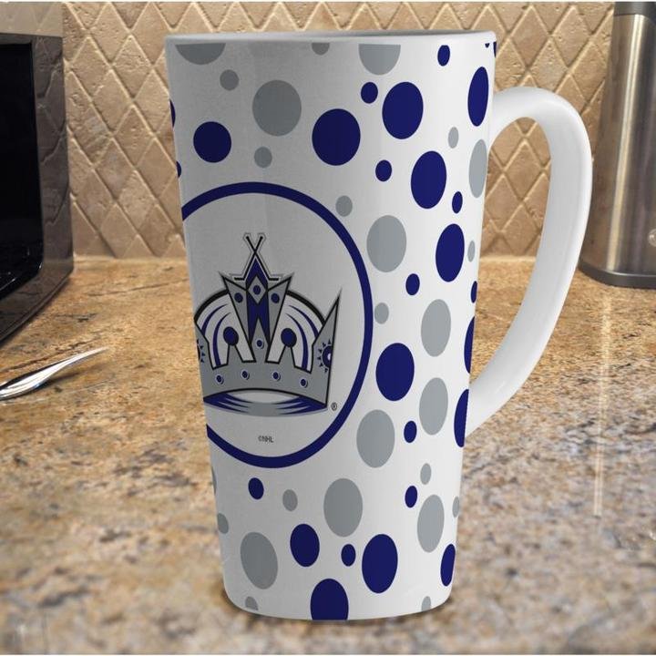MEMORY Company 16 oz. Polka Dot Latte Mug with Team Colors - Kings