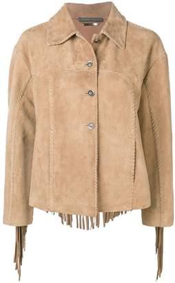 Alberta Ferretti fringed leather jacket