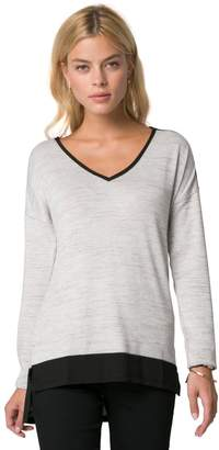 Le Château Women's Knit High-Low Long Sleeve Top,XS