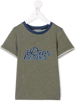 Christian Dior embroidered detail T-shirt