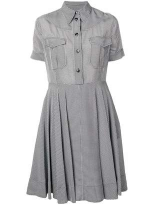 fd6be28e65e Calvin Klein sheer strong gingham shirt dress