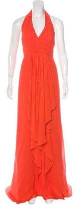 Nicole Miller Silk Maxi Dress w/ Tags $125 thestylecure.com