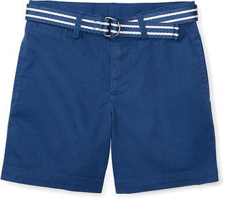 Ralph Lauren Boys 2-7 Belted Stretch Cotton Short $39.50 thestylecure.com
