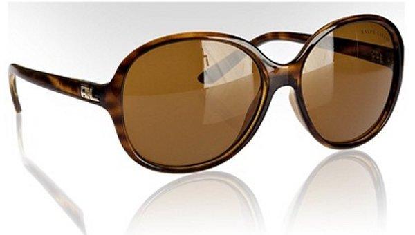 Ralph Lauren tortoise plastic oversized sunglasses