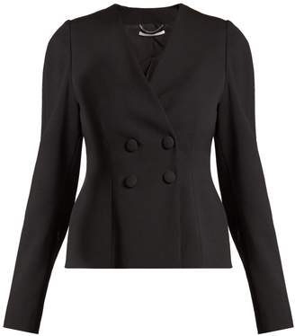 Peyton wool-blend double-breasted cropped jacket