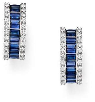 Bloomingdale's Blue Sapphire & Diamond Earrings in 14K White Gold - 100% Exclusive