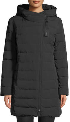 Cole Haan Asymmetric-Zip Puffer Jacket