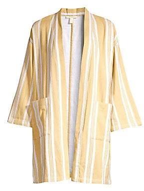 Eileen Fisher Women's Striped Organic Cotton Kimono Jacket