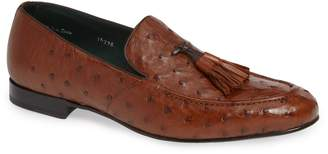 Mezlan Conte Tassel Ostrich Leather Loafer