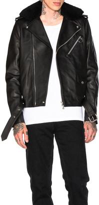 Acne Studios Araki Leather Jacket $1,650 thestylecure.com