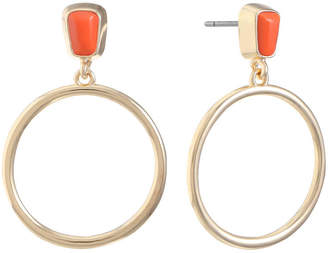 Liz Claiborne Orange 35mm Hoop Earrings