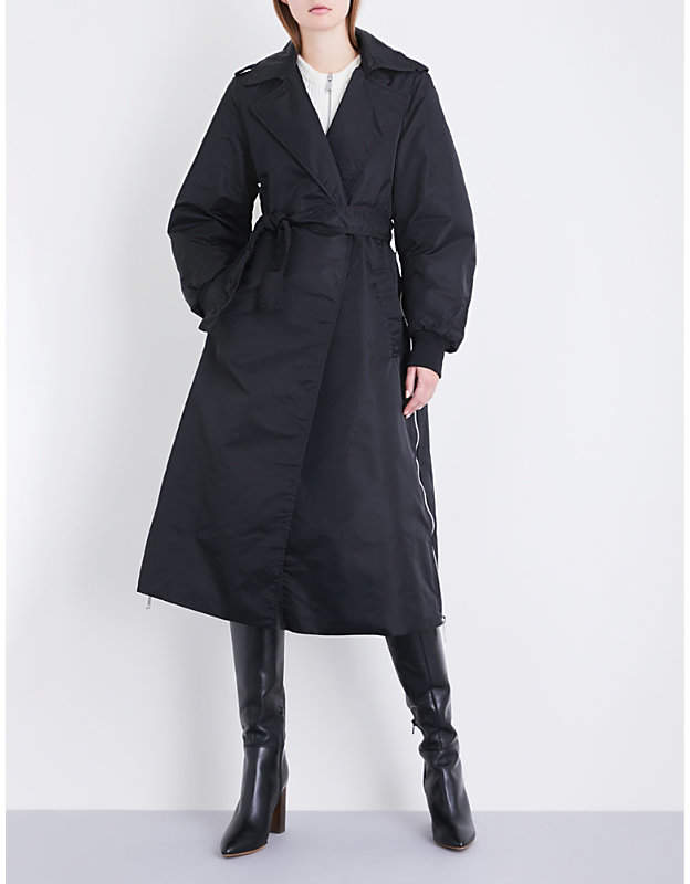 Ladies Black Classic X Schott Goodwin Shell Trench Coat