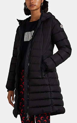 Moncler Women's Talev Leather-Trimmed Down-Quilted Puffer Coat - Black
