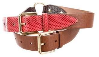 Dolce & Gabbana Leather Hip Belt