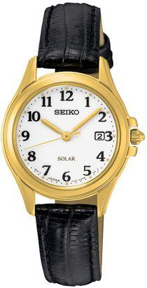 Seiko Women's Core Leather Solar Watch $215 thestylecure.com